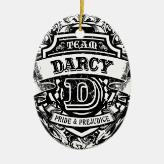 Team Darcy Double-Sided Oval Ceramic Christmas Ornament