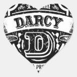 Team Darcy Heart Stickers