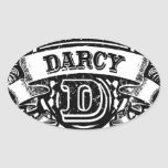 Team Darcy Oval Stickers