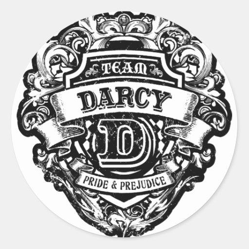 Team Darcy Round Stickers