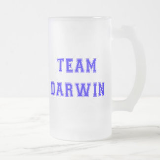 Team Darwin (blue) Frosted Glass Beer Mug