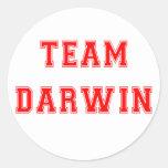 Team Darwin (red) Classic Round Sticker