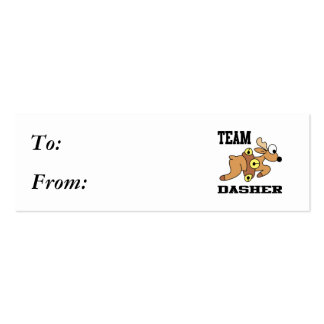 Team Dasher Reindeer Double-Sided Mini Business Cards (Pack Of 20)