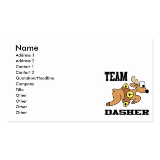 Team Dasher Reindeer Double-Sided Standard Business Cards (Pack Of 100)