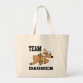 Team Dasher Reindeer Large Tote Bag