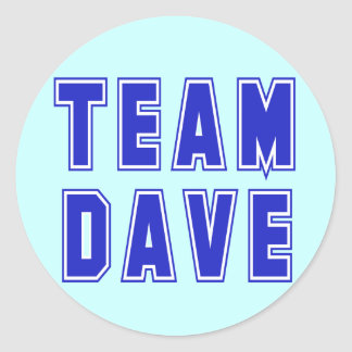 Team Dave T shirts and Products Classic Round Sticker