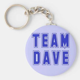Team Dave T shirts and Products Keychain
