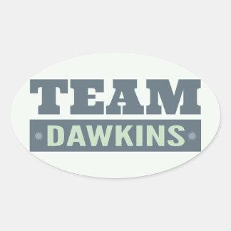 Team Dawkins Oval Sticker