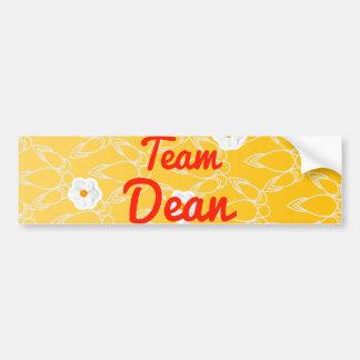 Team Dean Car Bumper Sticker