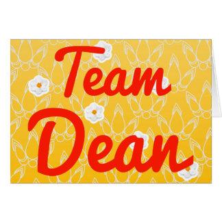 Team Dean Greeting Card