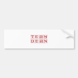 team-dean-kon-burg.png car bumper sticker