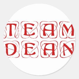 team-dean-kon-burg.png classic round sticker