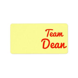 Team Dean Address Label