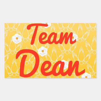 Team Dean Rectangular Sticker
