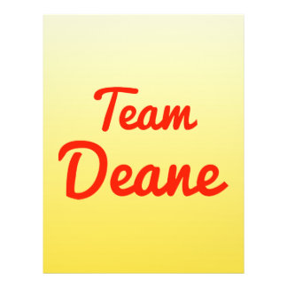 Team Deane Personalized Flyer