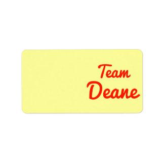 Team Deane Address Label