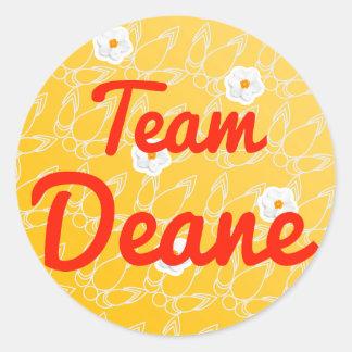 Team Deane Classic Round Sticker