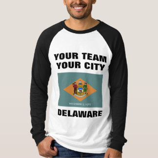 Team Delaware State Flag Raglan T-shirt