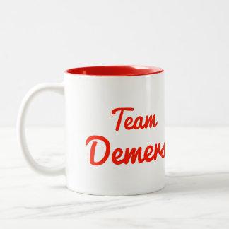 Team Demers Two-Tone Coffee Mug