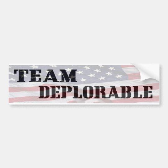 Team deplorable bumper sticker bumper sticker