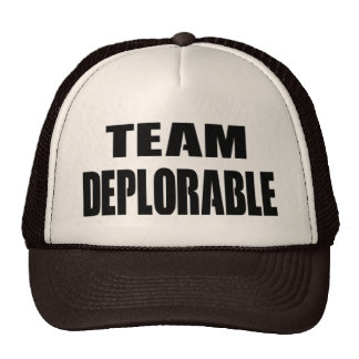 """""""TEAM DEPLORABLE"""" hat for you and friends"""