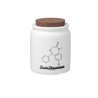 Team Diazepam (Chemical Molecule) Candy Dish