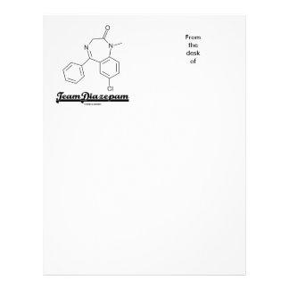 Team Diazepam (Chemical Molecule) Customized Letterhead