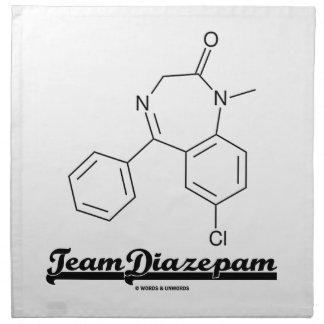 Team Diazepam (Chemical Molecule) Cloth Napkins