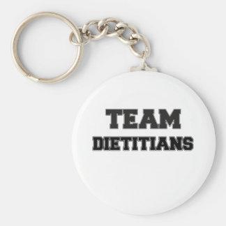 Team Dietitians Basic Round Button Keychain