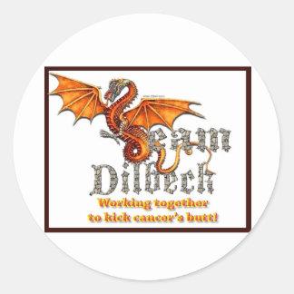 Team Dilbeck Classic Round Sticker