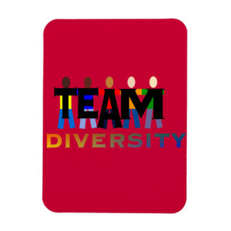 Team Diversity Rectangle Magnets