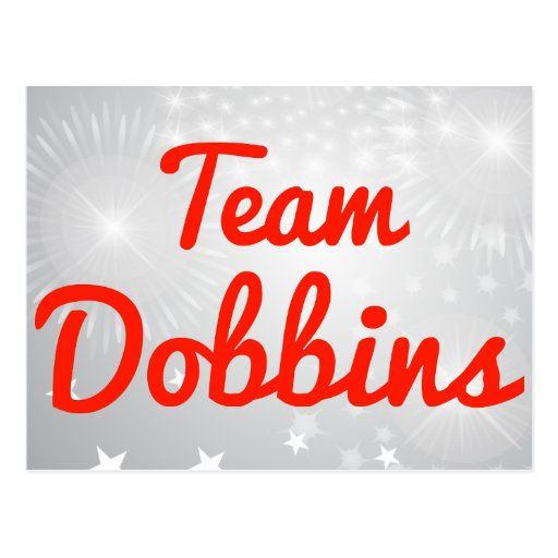 Team Dobbins Post Card