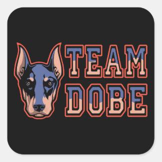 Team Dobe Square Sticker