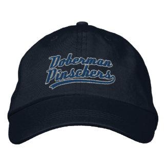 Team Doberman Pinschers Embroidered Hats