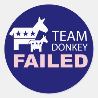 Team Donkey Failed Sticker