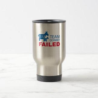 Team Donkey Failed Travel Mug