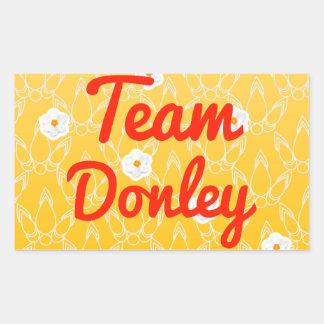 Team Donley Rectangular Sticker
