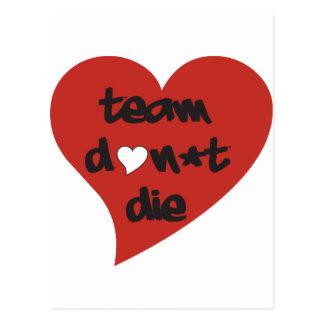 Team Don't Die Heart Postcard