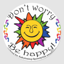 Team Don't Worry, Be Happy Classic Round Sticker