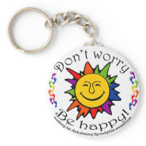 Team Don't Worry, Be Happy Keychain