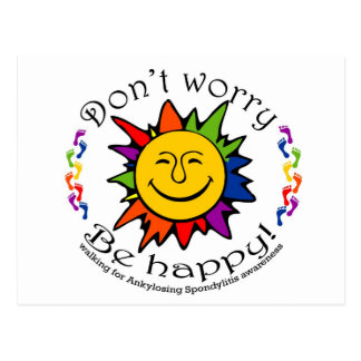 Team Don't Worry, Be Happy Postcard