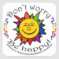 Team Don't Worry, Be Happy Square Sticker
