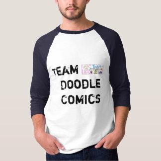 Team Doodle Comics- mens blue T Shirt
