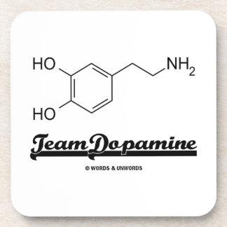 Team Dopamine (Dopamine Chemical Molecule) Beverage Coaster