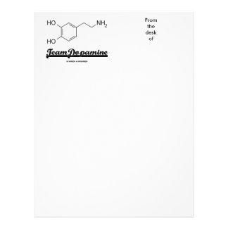 Team Dopamine (Dopamine Chemical Molecule) Custom Letterhead
