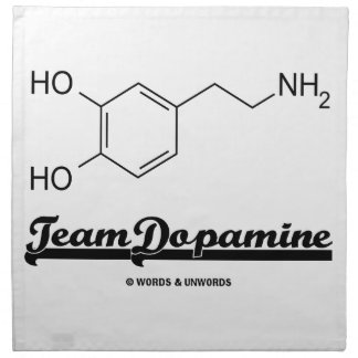 Team Dopamine (Dopamine Chemical Molecule) Cloth Napkins