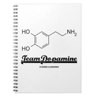 Team Dopamine (Dopamine Chemical Molecule) Spiral Note Books