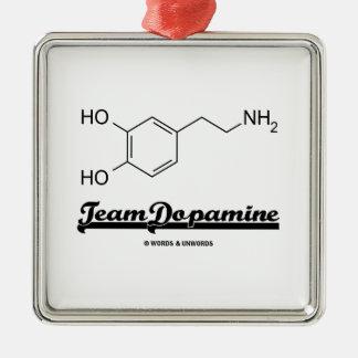 Team Dopamine (Dopamine Chemical Molecule) Christmas Tree Ornaments