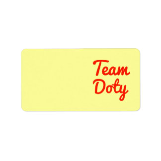 Team Doty Address Label