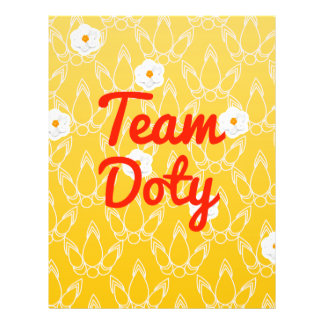 Team Doty Personalized Flyer